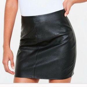 Dresses & Skirts - Vegan leather mini skirt